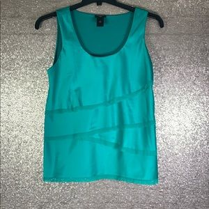 ANN TAYLOR || Petite Green Distressed Tank